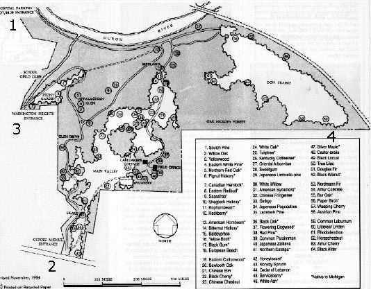 Maps Of Nichols Arboretum Ann Arbor Michigan