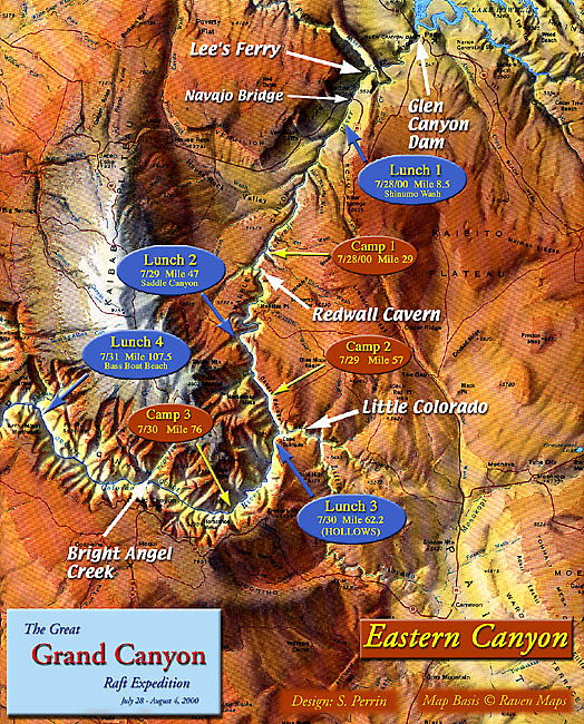 Grand Canyon Trip Map East – Grand Canyon Tourist Map
