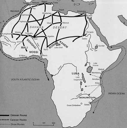 Trade Map Of Africa Unit 1