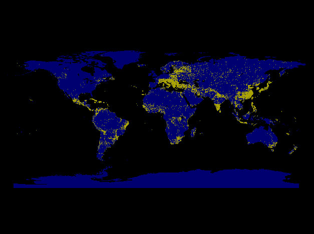 The lights all over the world when the sequence of images in figure 3 is animated figure 4a interesting visual comparisons emerge of the global distribution of urbanized areas gumiabroncs Choice Image