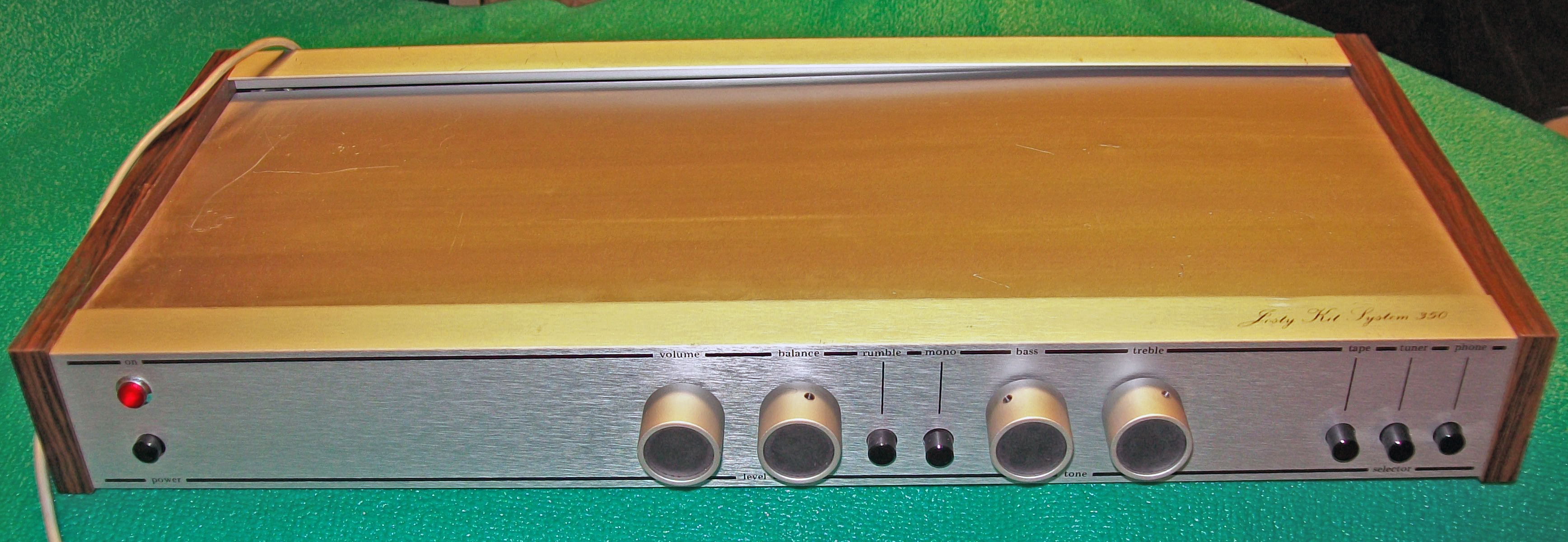Later stereo preamp design from Josty. I have no idea what year - I am assuming late 70s? Powers ...