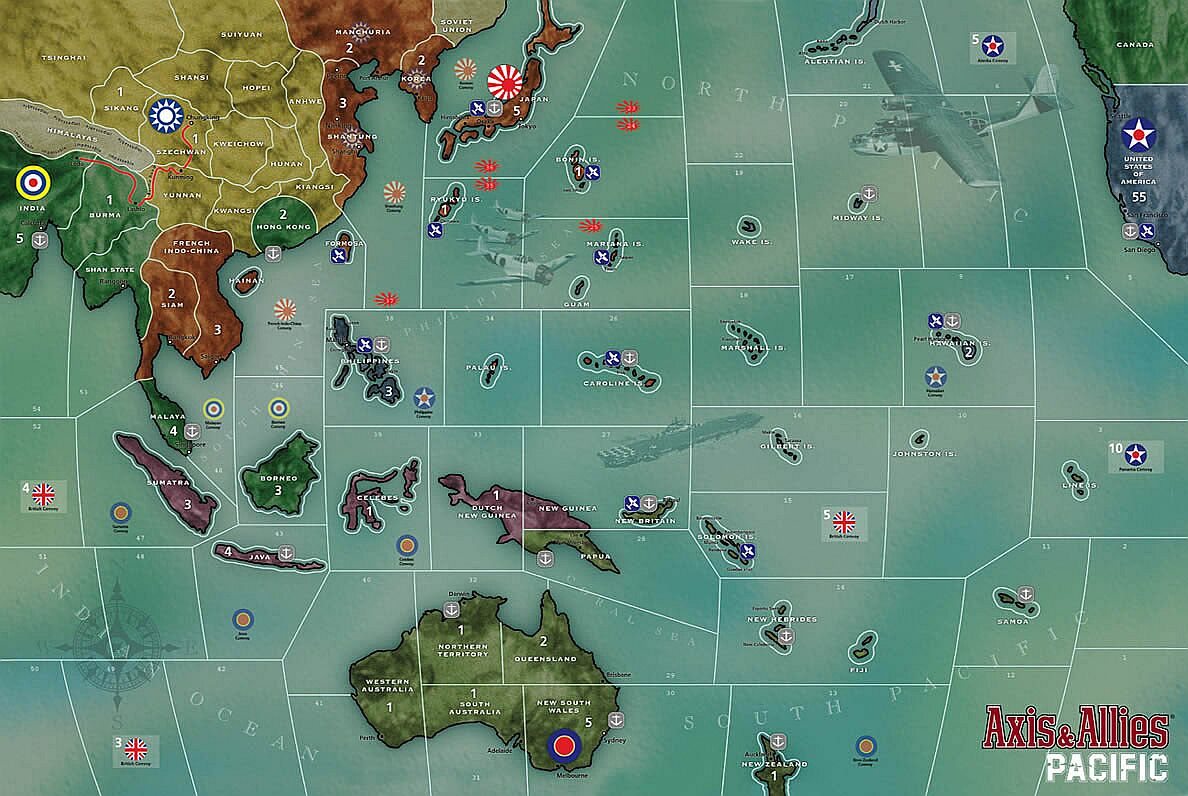 Axis And Allies Pacific Map Official and Unofficial Errata/FAQ's/Rules/Variants