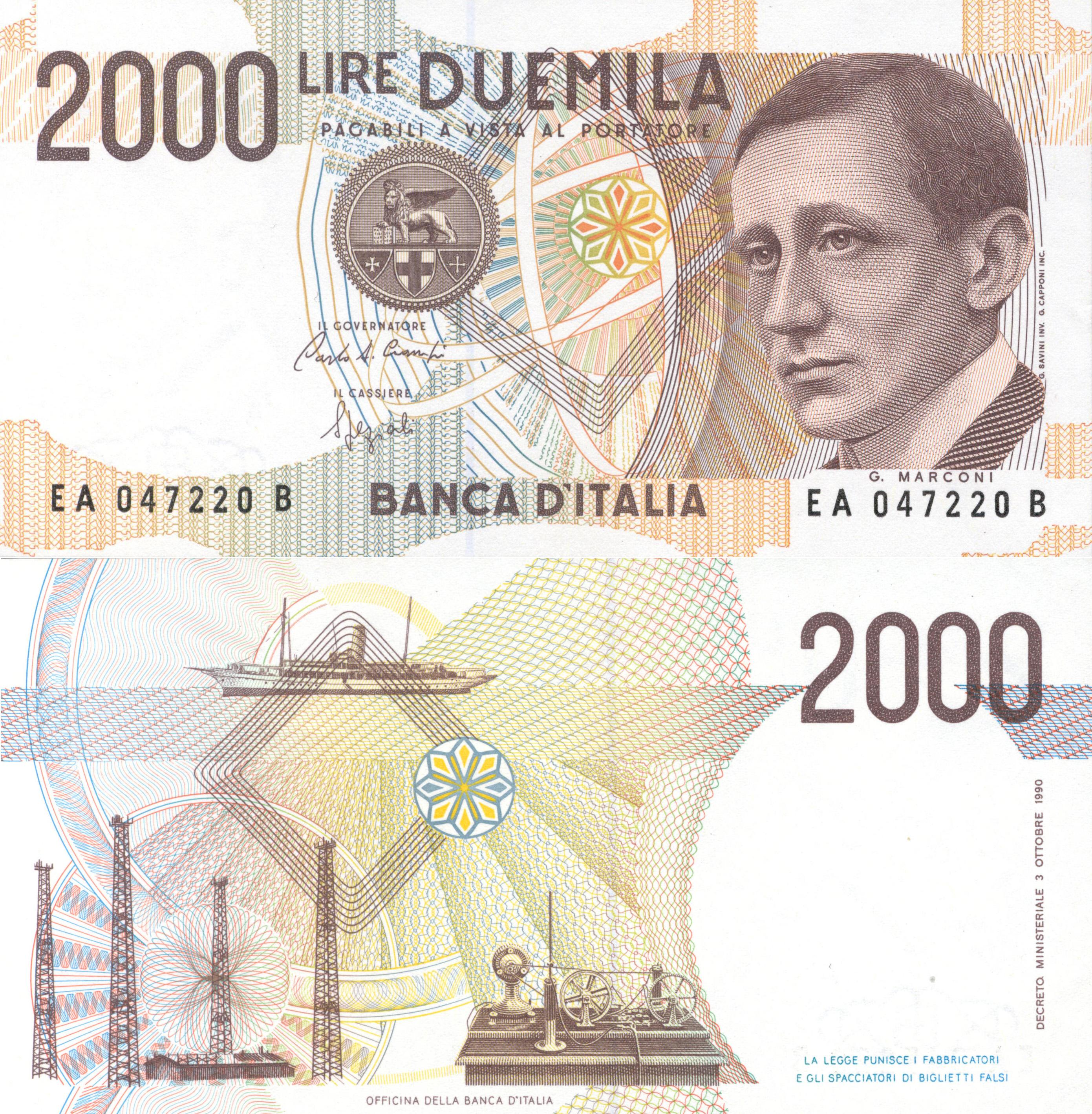 Guglielmo Marconi 2000 Italian