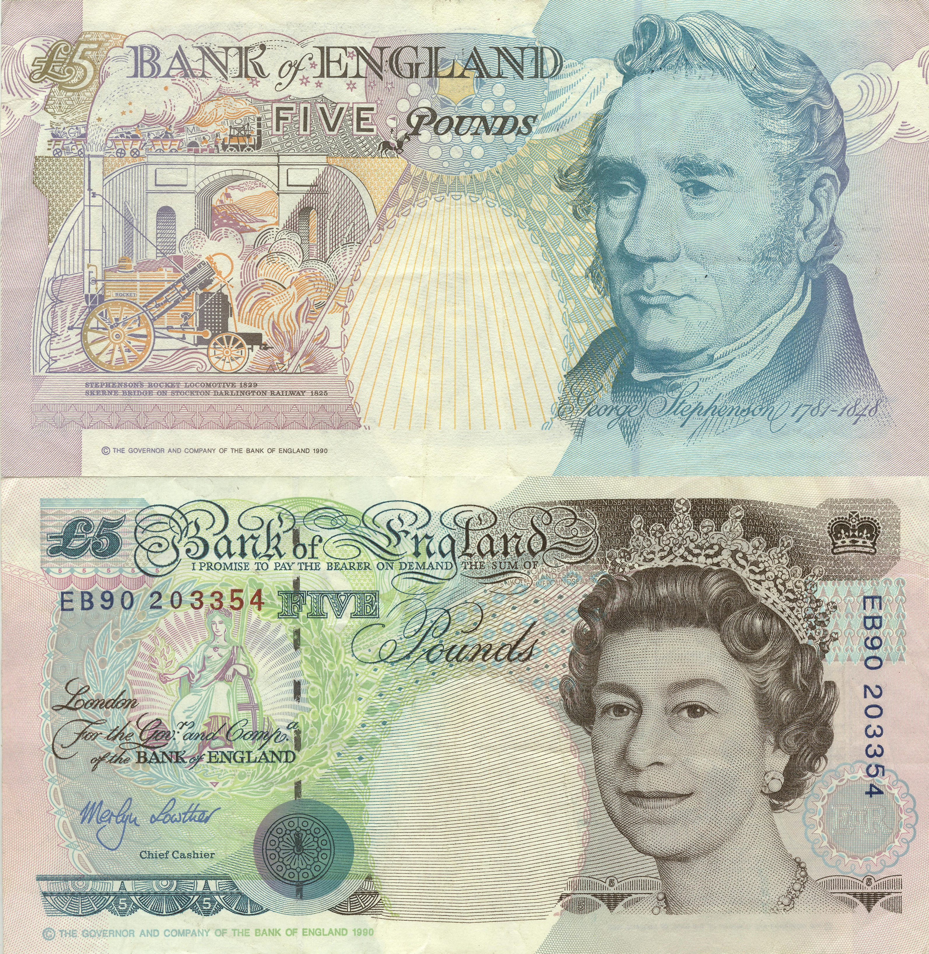British 5 Pound Notes 