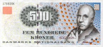 Bohr 500 Danish Kroner