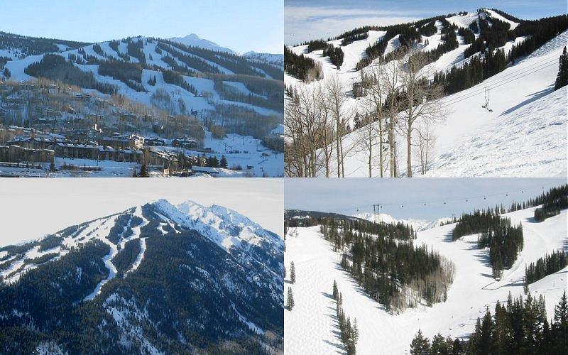 resorts: snowmass, aspen, aspen highlands, and aspen again.