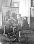 Photograph of the artist in his youth