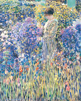 """Lady in a Garden,"" c. 1912, Terra Foundation for the Arts"