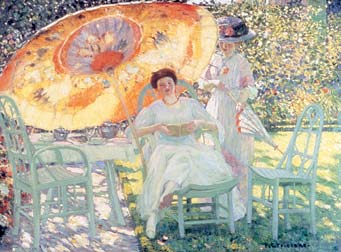"""The Garden Parasol,"" by 1910, North Carolina Museum of Art, Raleigh"