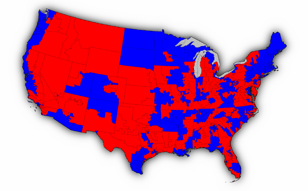 Election Result Maps - Us congress election map