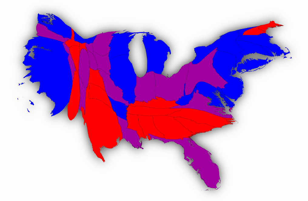 Election Result Maps - Us senate red blue map
