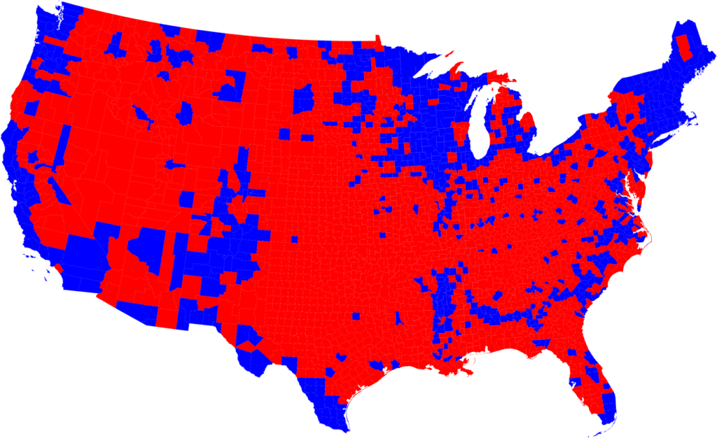 election results by county