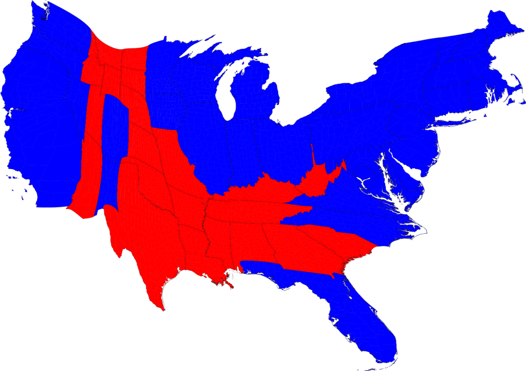 2008 Election Results Map