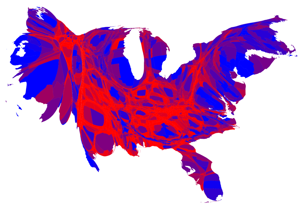 Election Maps - Conservative dominance states in the us map