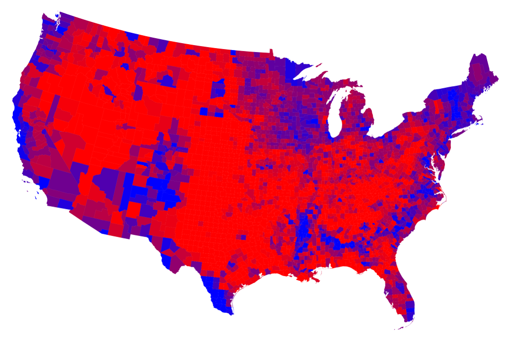 Election Maps - Map of us for prezident vote