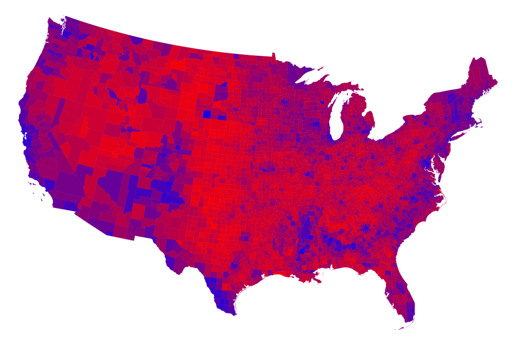 The Real Political Map Is Shockingly Different From CNNs - Electoral college us map