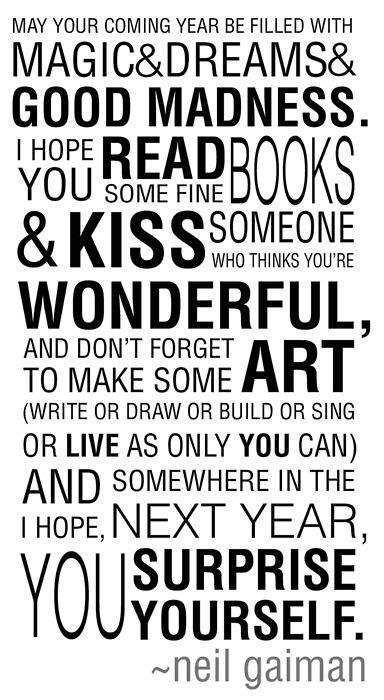 Birthday wishes, from Mr. Gaiman and I.