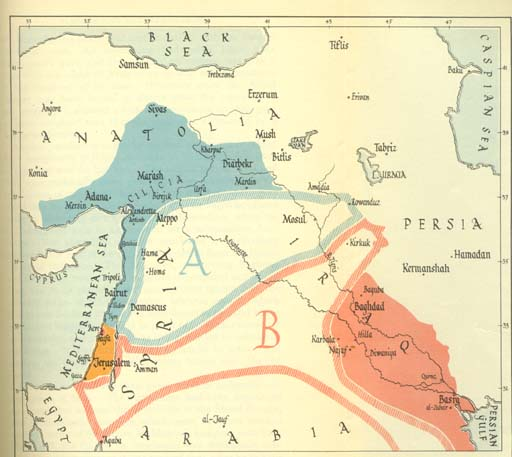 70 Sykes Picot Western Designs On The Middle East Strange Maps