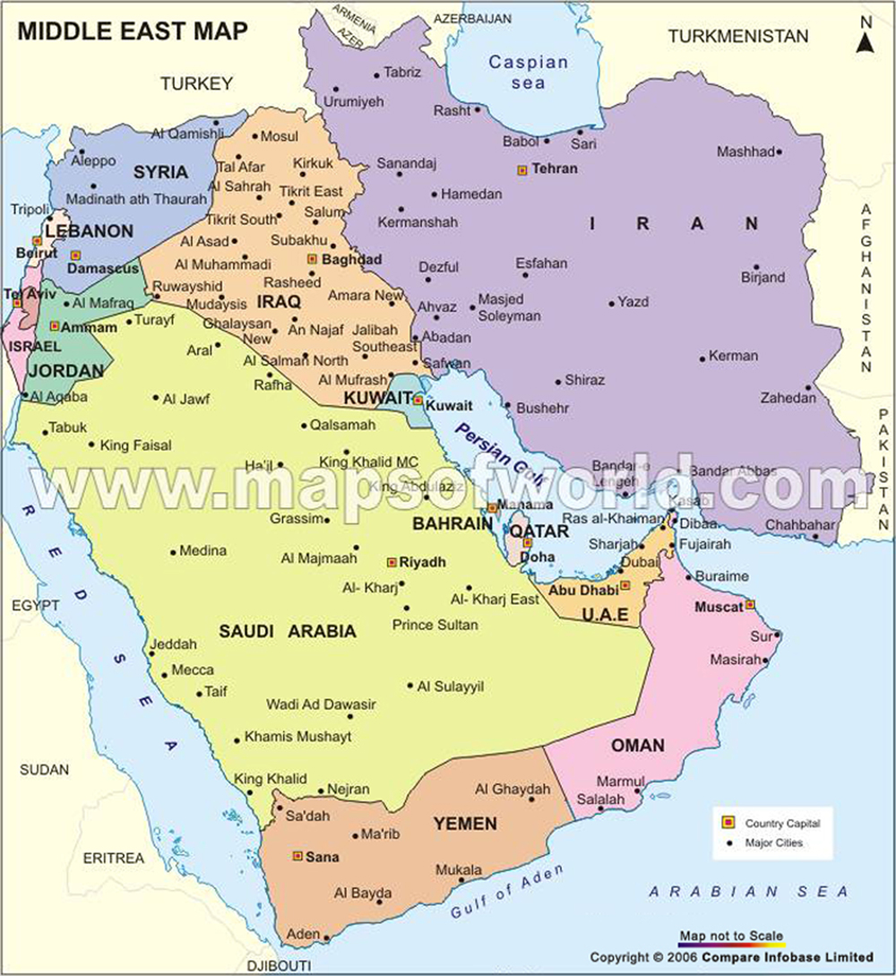 Amazing ... Map Of Middle East ...