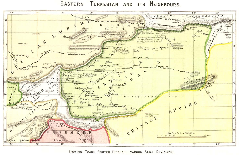 The Tajikistan Update Maps of XinjiangEastern Turkestan