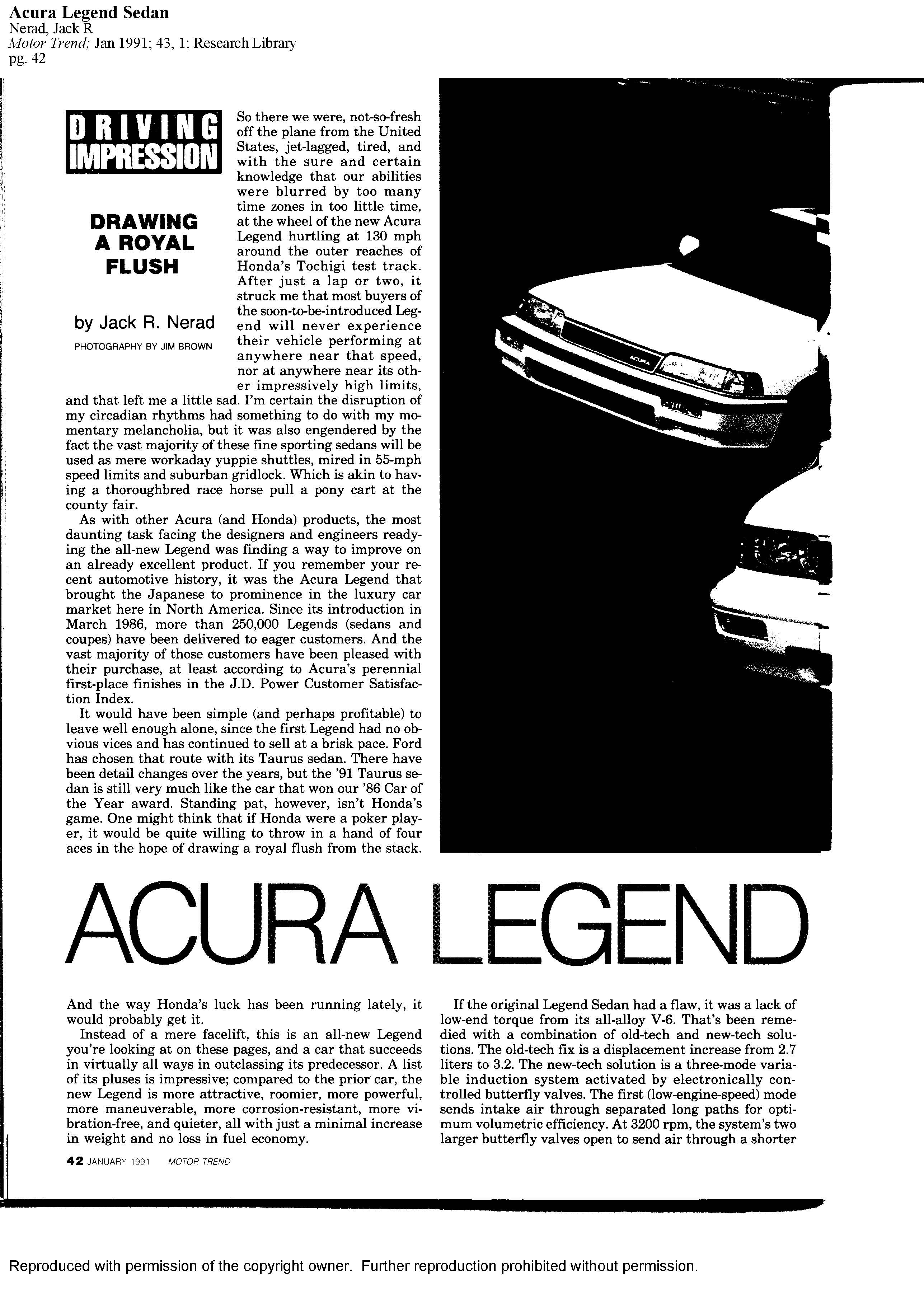 Motor Trend Drawing A Royal Flush Acura Legend Driving Impression Page on Acura Legend Forum For All Generations Of The Honda