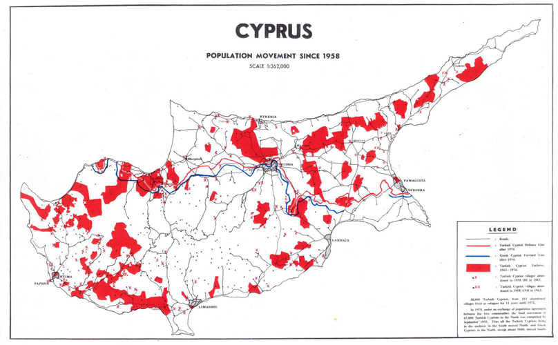 Cyprus: Population Movement since 1958