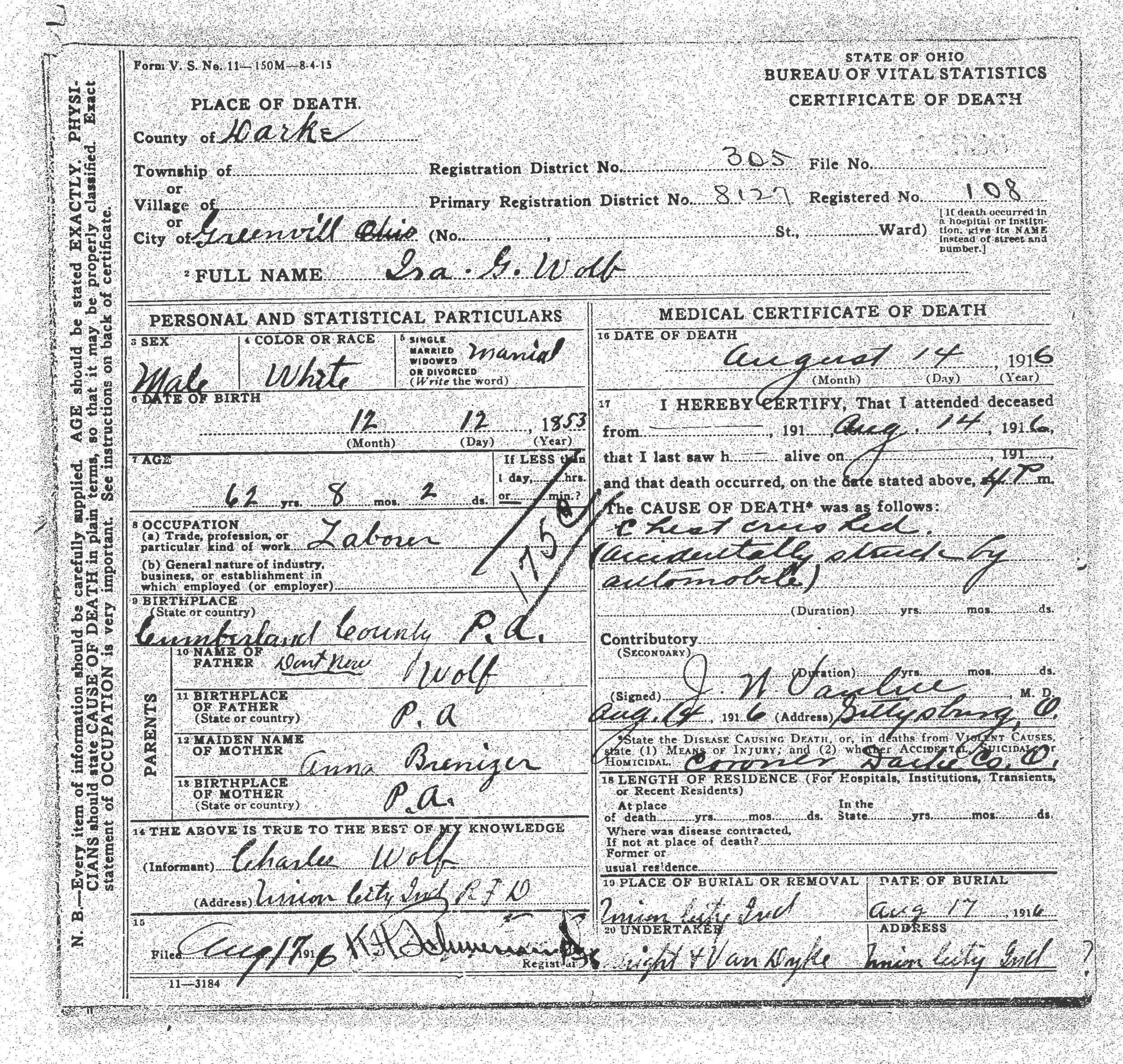 Anna M Brenizer 21 March 1834 10 November 1890 Born South